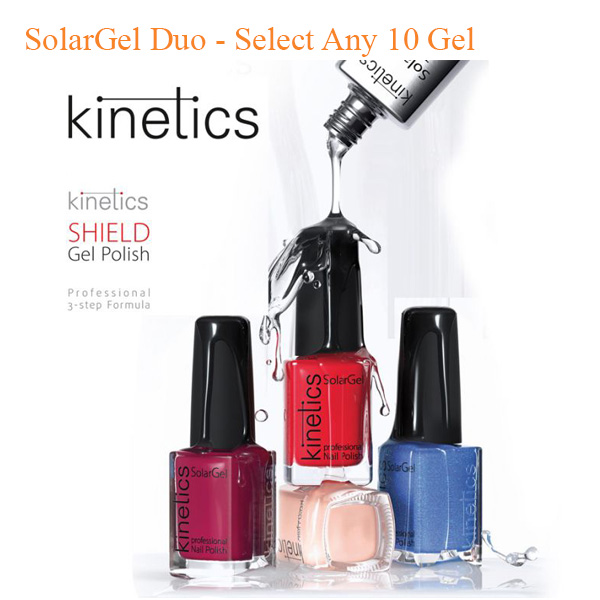 Kinetics – Shield Polish And SolarGel Duo – Select Any 10 Gel