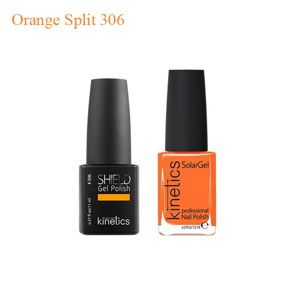Kinetics Shiled Gel And SolarGel Polish Duo Orange Split 306 - Sản phẩm mua nhiều
