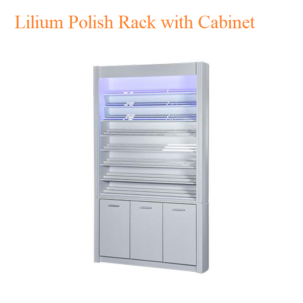 Lilium Polish Rack with Cabinet – 84 inches
