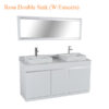Rosa Double Sink W Faucets 60inches 100x100 - Rosa Double Sink (W-Faucets) - 60 inches