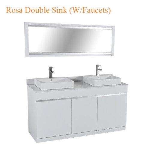 Bộ Tủ Rửa Mặt Rosa (W-Faucets) – 60 Inches