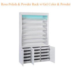 Rosa Polish Powder Rack w Gel Color Powder Cabinet w LED Light 80inches 0 247x247 - Top Selling