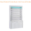 Rosa Polish & Powder Rack w/Gel Color & Powder Cabinet (w/LED Light) – 80 inches