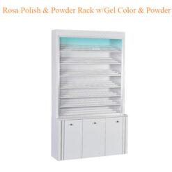 Rosa Polish Powder Rack w Gel Color Powder Cabinet w LED Light 80inches 247x247 - Top Selling
