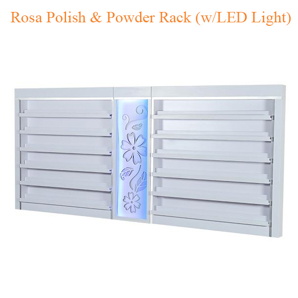 Rosa Polish & Powder Rack (w/LED Light) – 84 inches