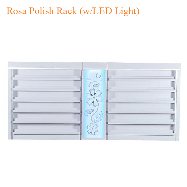 Rosa Polish Rack (w/LED Light) – 84 inches