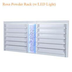 Kệ Trưng Bày Bột Đắp Rosa (w/LED Light) – 84 Inches