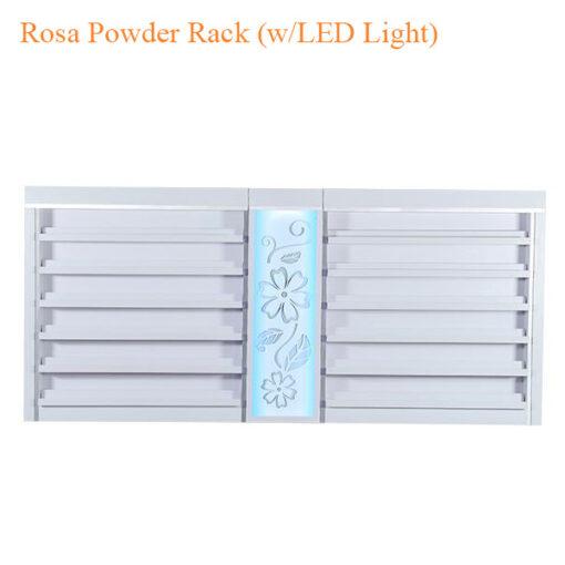 Rosa Powder Rack (w/LED Light) – 84 inches