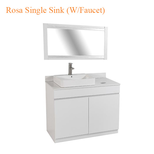 Rosa Single Sink (W-Faucet) – 39 inches