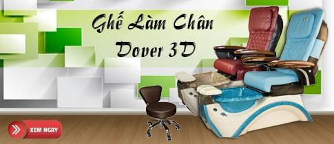 Ghế Làm Chân Dover 3D Dùng Jet Nam Châm Chất Lượng Cao