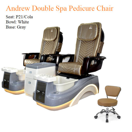 Andrew Double Luxury Spa Pedicure Chair with Magnetic Jet – Smart Control High Quality