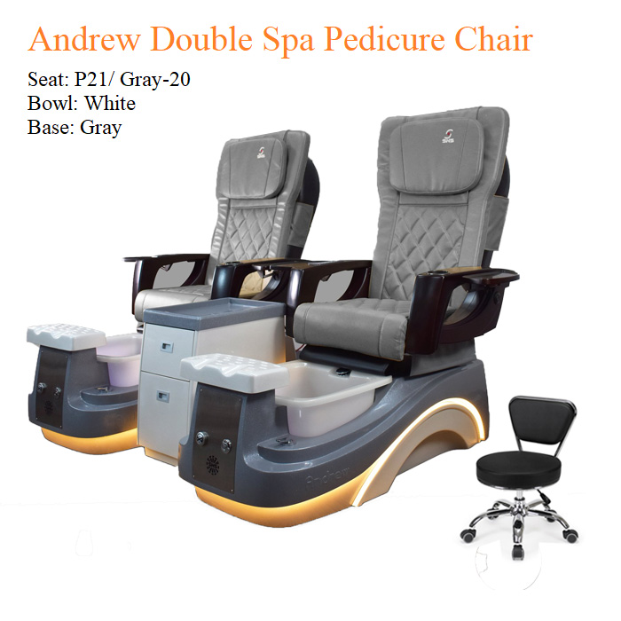 Andrew Double Luxury Spa Pedicure Chair with Magnetic Jet – Smart Control High Quality 3 - All Best Deals