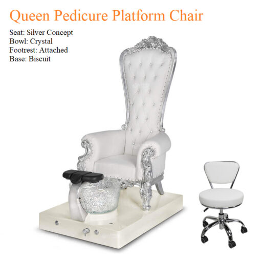Queen Pedicure Platform Chair with Magnetic Jet – Standard Heater and Waterdance System