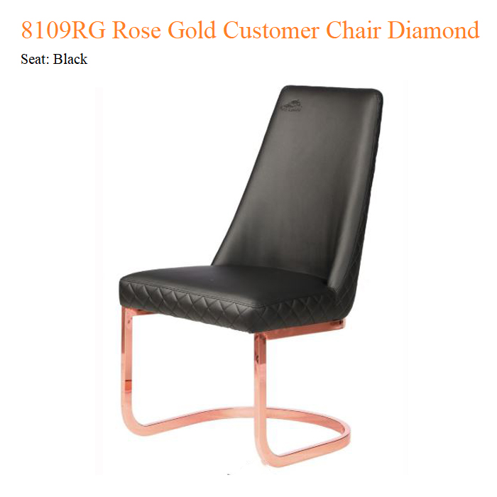 8109RG Rose Gold Customer Chair Diamond