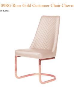 8110RG Rose Gold Customer Chair Chevron