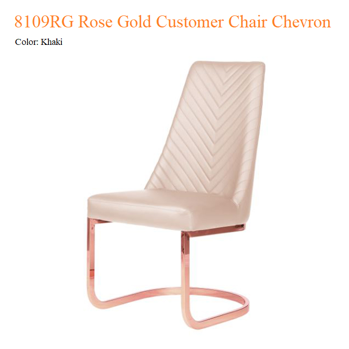 8110RG Rose Gold Customer Chair Chevron
