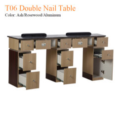 T06 Double Nail Table 68 Inches 1 247x247 - Equipment nail salon furniture manicure pedicure