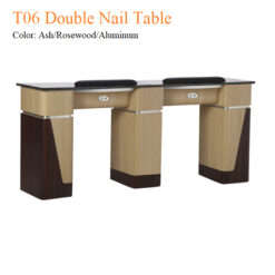 T06 Double Nail Table 68 Inches 2 247x247 - Equipment nail salon furniture manicure pedicure