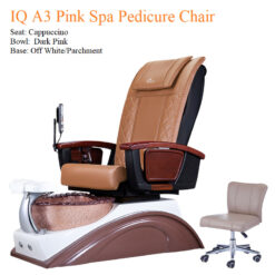IQ A3 Pink Spa Pedicure Chair with Magnetic Jet