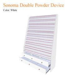 White Sonoma Double Powder Device
