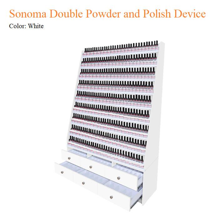 White Sonoma Double Powder and Polish Device