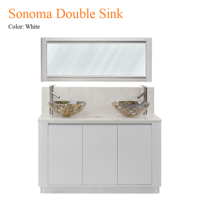 White Sonoma Double Sink