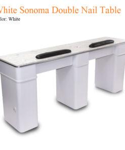 White Sonoma Double Nail Table – 72 inches