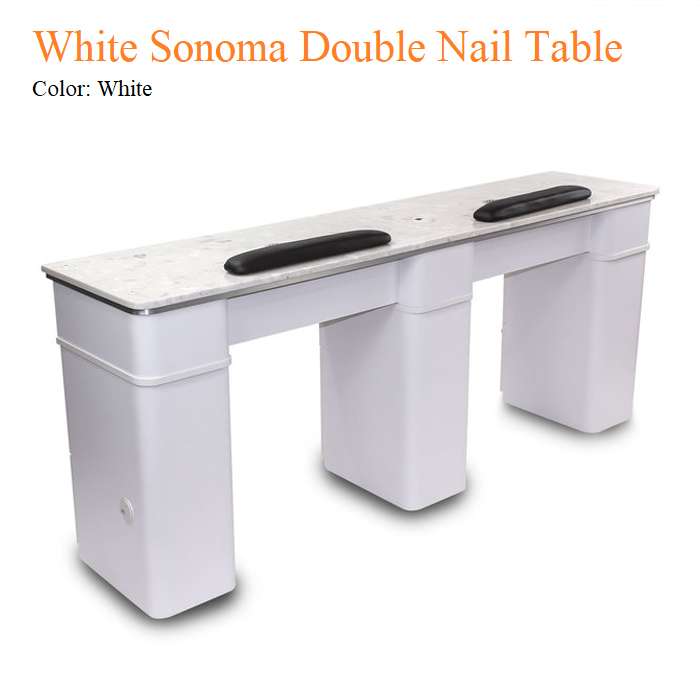 White Sonoma Double Nail Table – 72 inches