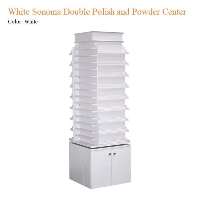 White Sonoma Double Polish and Powder Center with 360 Degree Swivel