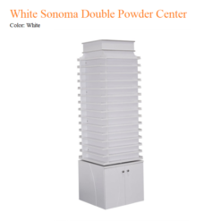 White Sonoma Double Powder Center with 360 Degree Swivel
