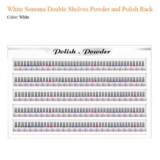 Kệ Trưng Bày Đôi Nước Sơn và Bột Đắp White Sonoma