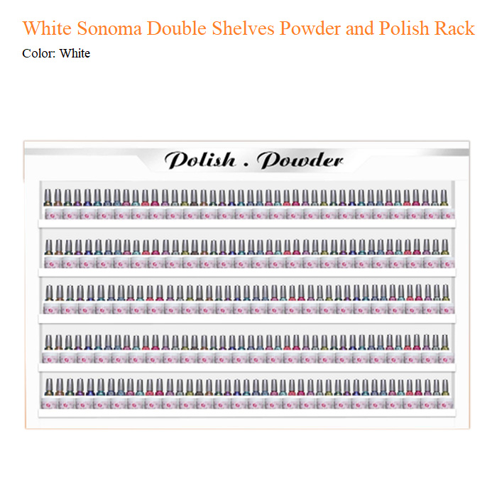 White Sonoma Double Shelves Powder and Polish Rack