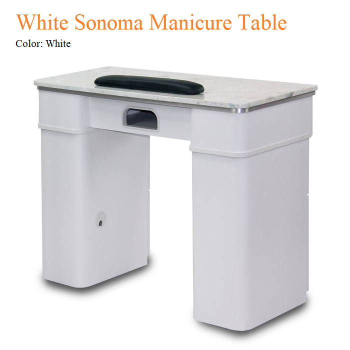White Sonoma Manicure Table
