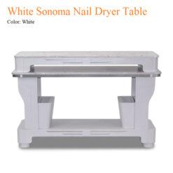 White Sonoma Nail Dryer Table