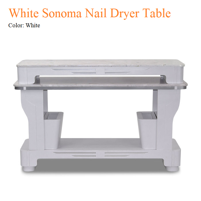 White Sonoma Nail Dryer Table