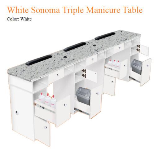 Bàn Nail Ba White Sonoma