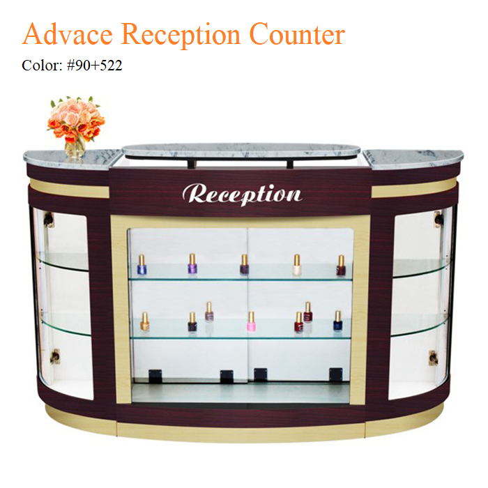 Advace Reception Counter – White Stone Marble