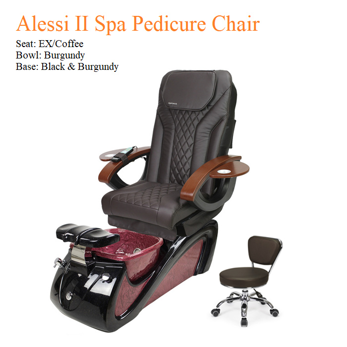 Alessi II Spa Pedicure Chair with Magnetic Jet – Shiatsulogic Massage System