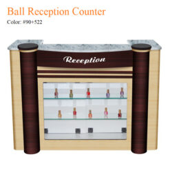 Ball Reception Counter – White Stone Marble