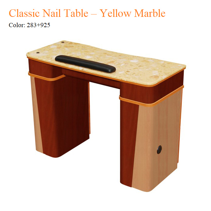 Classic Nail Table – Yellow Marble