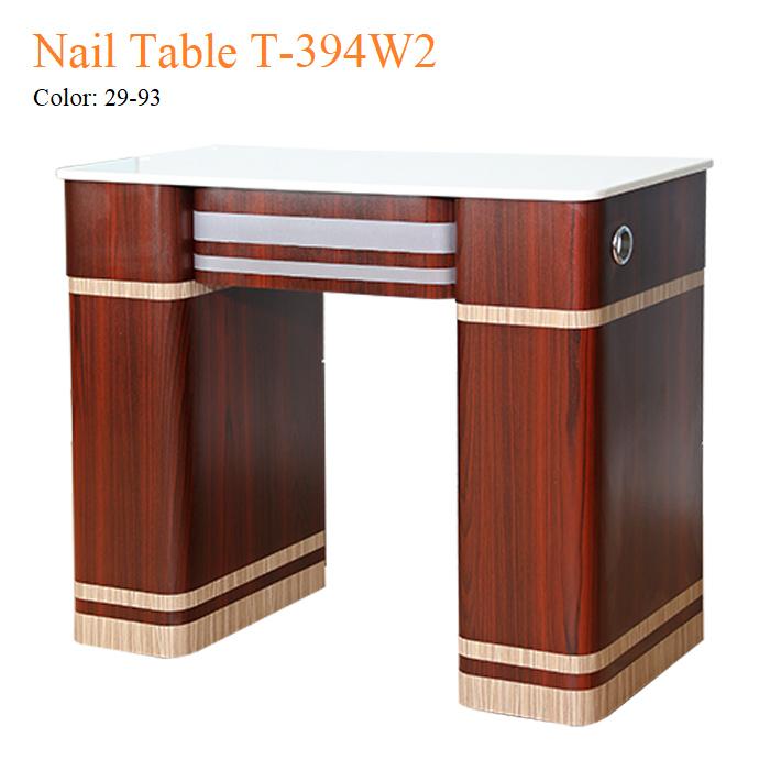 Nail Table T-394W2 – White Marble