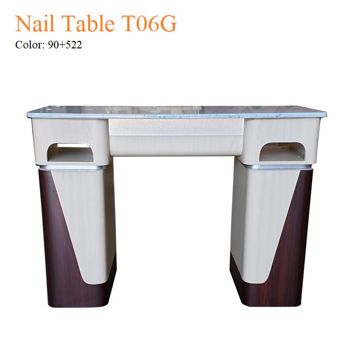 Nail Table T06G – White Stone Top