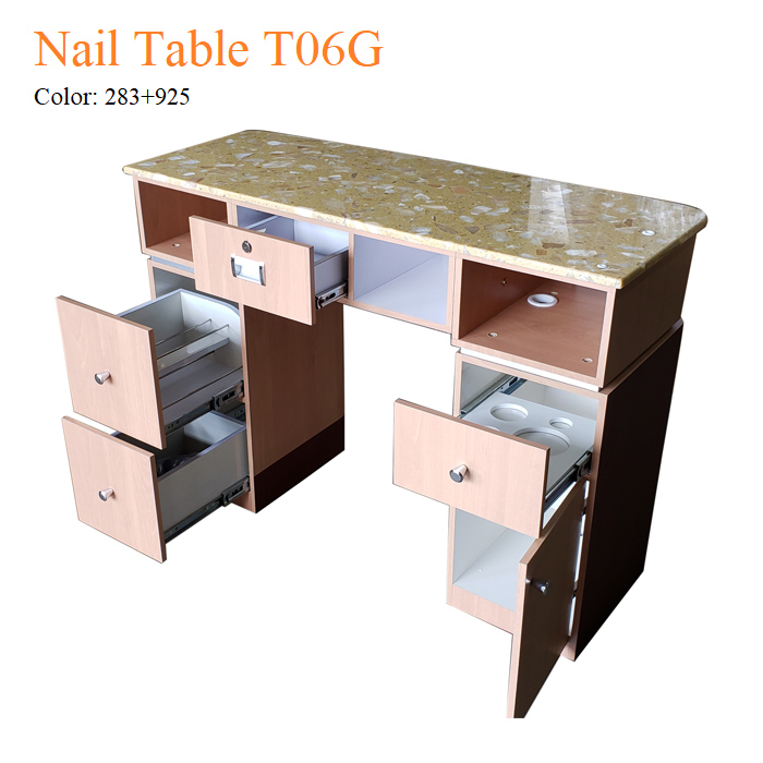 Nail Table T06G – Yellow Marble