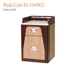 Pedi Cart D-394W2 – White Marble