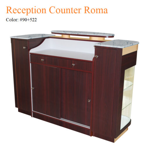 Reception Counter Roma – White Stone Marble