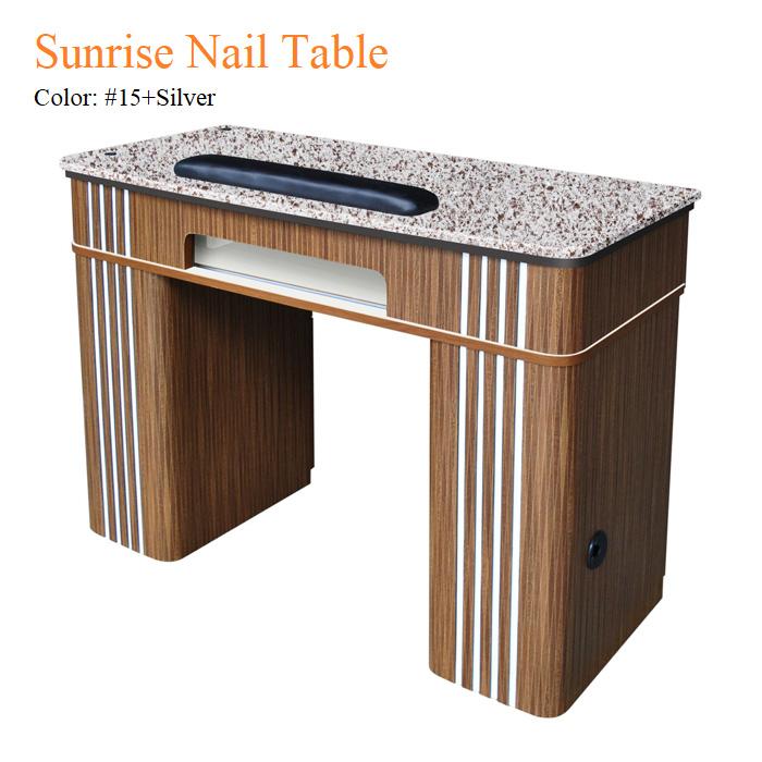 Sunrise Nail Table – Arnica Purple Marble