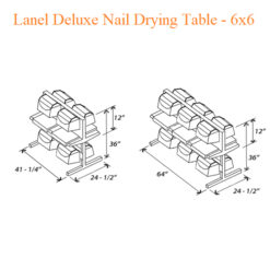 Lanel Deluxe Nail Drying Table – 6×6