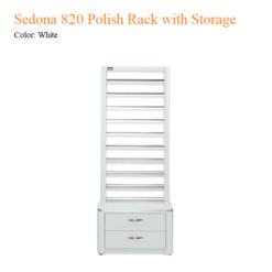 Sedona 820 Polish Rack with Storage
