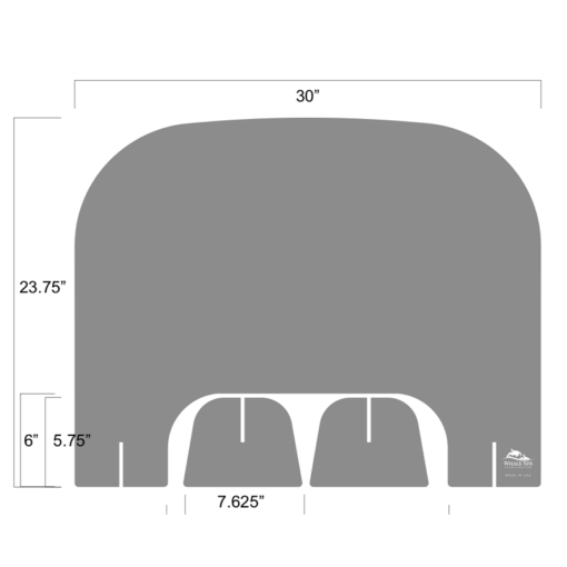 Acrylic Nail Table Divider Shield