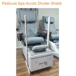 Pedicure Spa Acrylic Divider Shield 18.5″H x 21″W